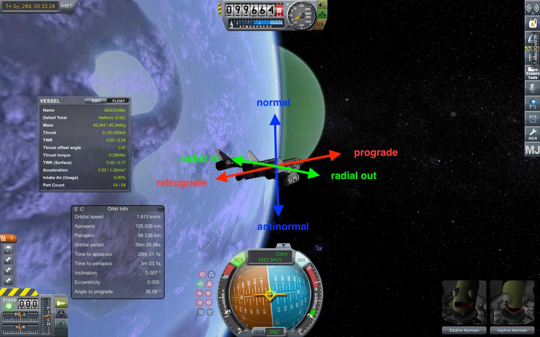Spacecraft orientation